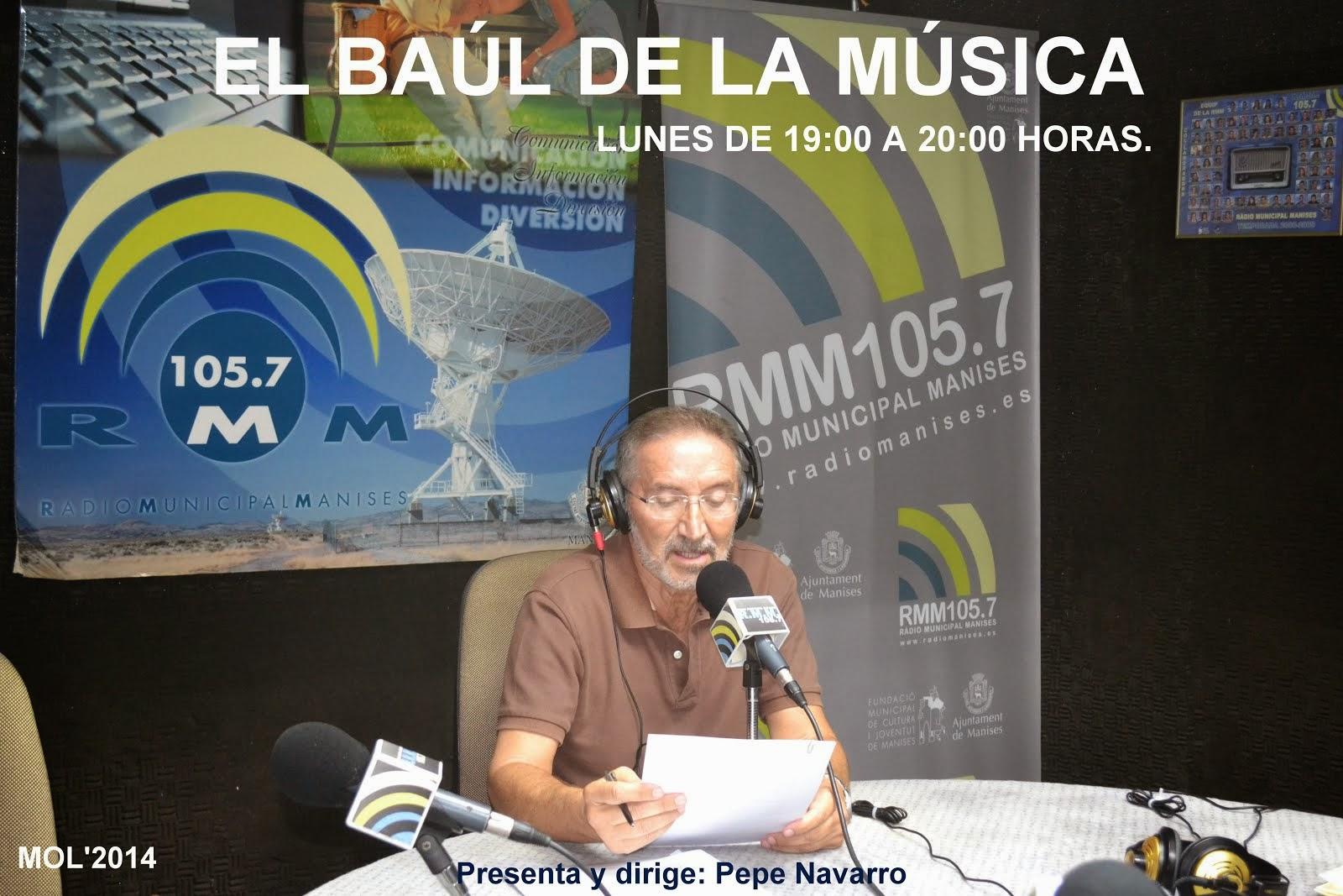 EL BAÚL DE LA MÚSICA EN RMM, LOS LUNES DE 19:00 A 20:00 HRS.