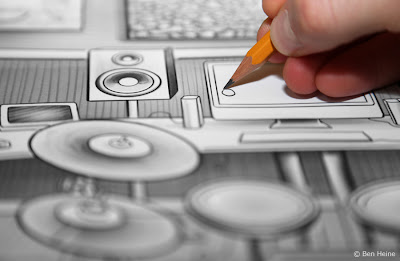 Lion Walk Animation - Drawing in Progress © 2013 Ben Heine