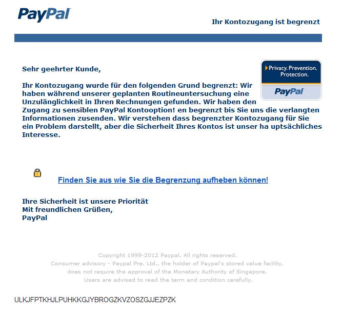 paypal konto limitierung aufheben