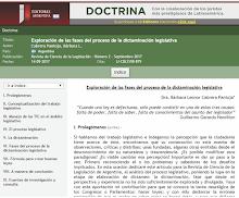 """""""EXPLORACIÓN DE LAS FASES DEL PROCESO DE DICTAMINACIÓN LEGISLATIVA"""""""