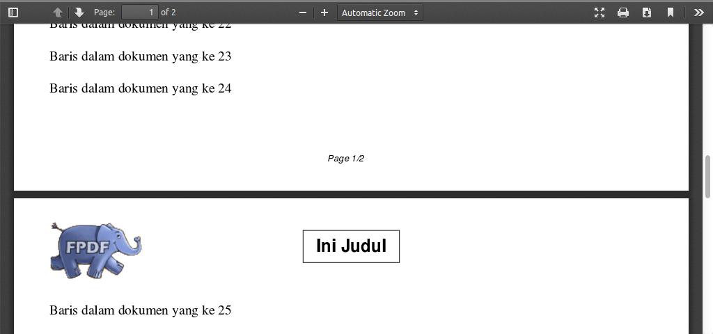 membuat report pdf menggunakan php