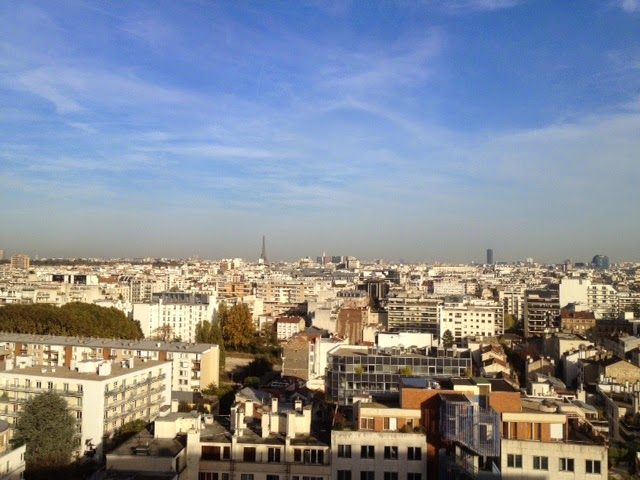 View over Boulogne-Billancourt and Paris