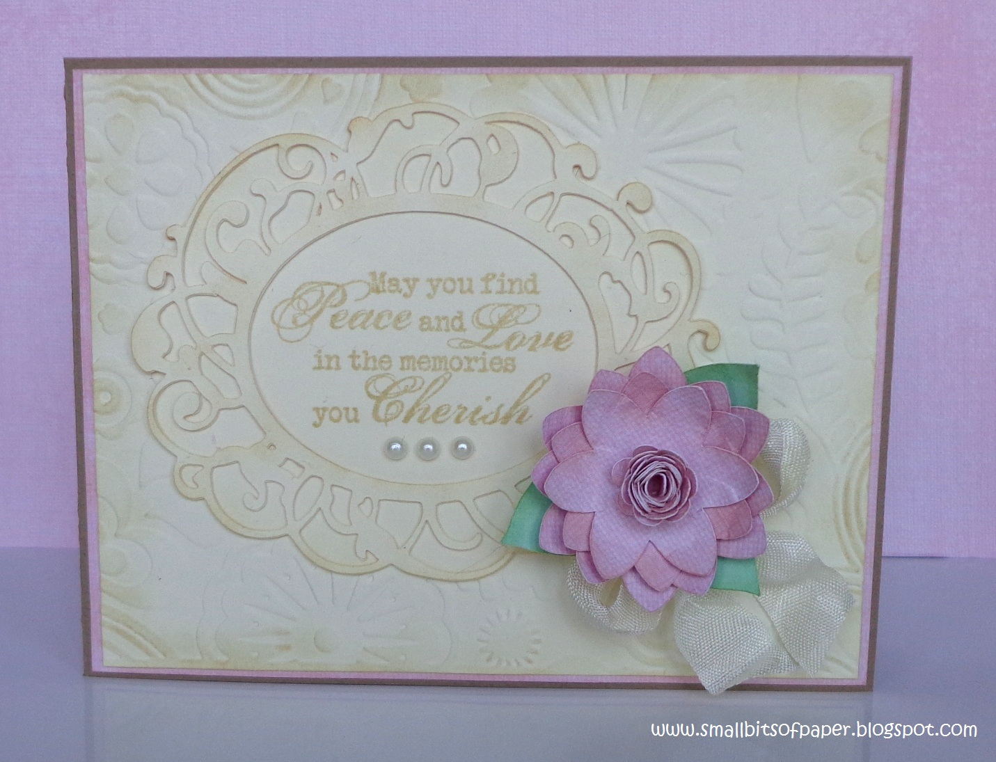 small bits of paper  sympathy card