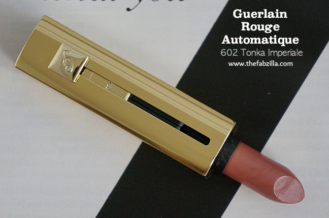 Guerlain Rouge Automatique Hydrating Long-Lasting Lip Color 602 Tonka Imperiale, Review, Swatch, Guerlain Sun Celebration Summer 2014