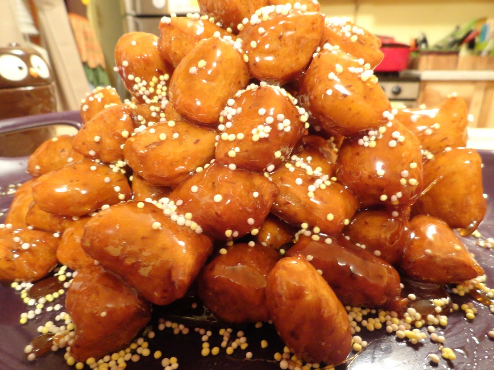 Struffoli (Fried Dough With Honey And Almonds) Recipe — Dishmaps