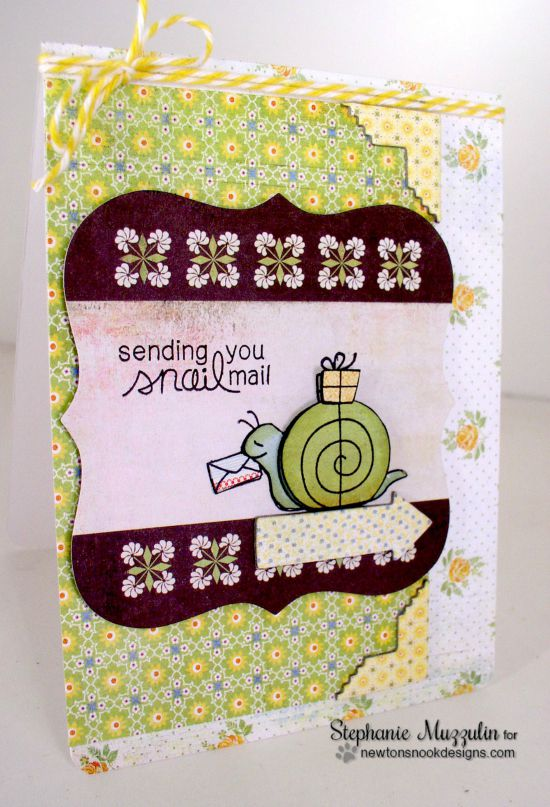 Sending Snail Mail by Stephanie Muzzulin | In Slow Motion Stamp set by Newton's Nook Designs #snailmail #newtonsnook