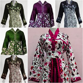 Model Baju Batik Gamis Muslimah