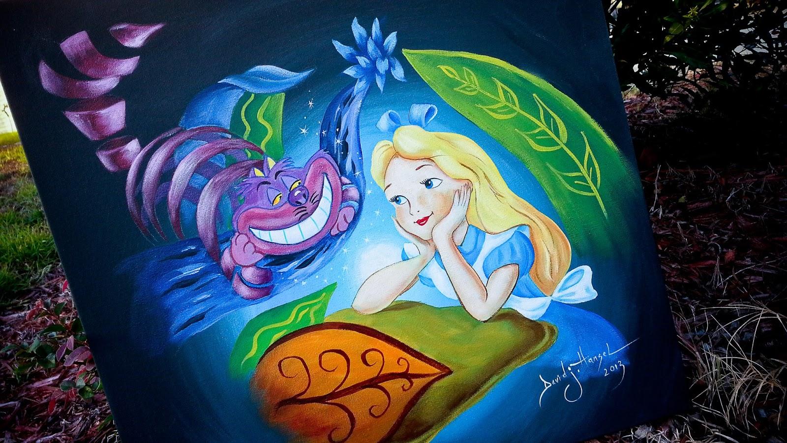 David J Hansel The Artist Alice In Wonderland Painting I