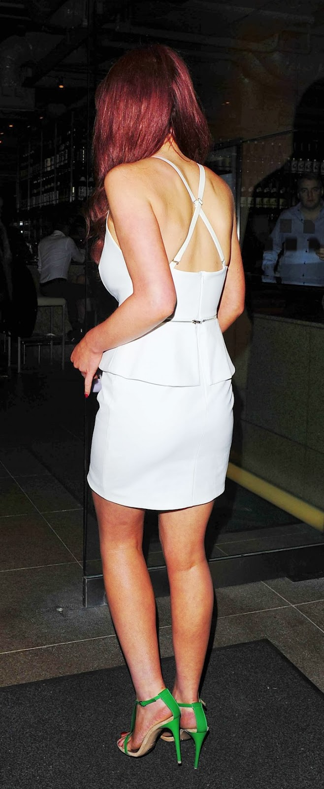 Helen Flanagan Flaunt Cleavage in White Mini Dress at ...