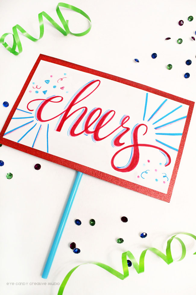 cheers photo booth prop, birthday party photo prop, tombow, photo booth