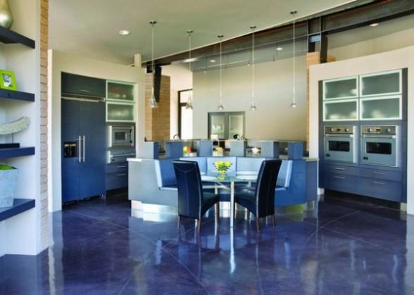 Disenos de azulejos azules de interiores para piso - Azulejos azules para bano ...