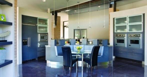 Disenos de azulejos azules de interiores para piso for Diseno de pisos interiores