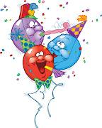 Even more balloon excitement. (balloons faces cartoon)