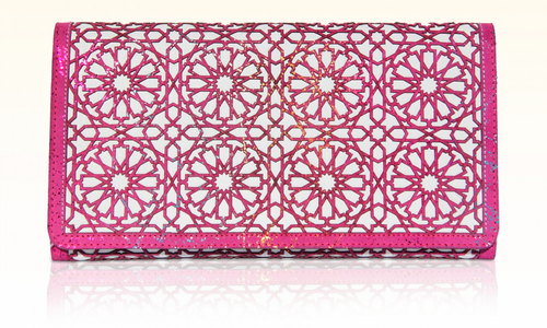 Lalla Alia Handbag - Kech Hot Pink clutch