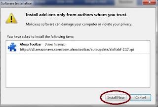 Instal Alexa toolbar Firefox