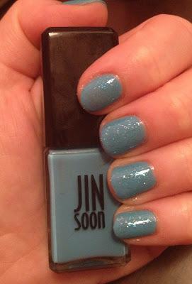 Jin Soon, Jin Soon Poppy Blue, Zoya, Zoya Mosheen, glitter nails, glitter nail polish, nail art, nail polish, nail varnish, nail lacquer, manicure, mani monday, #manimonday, nails