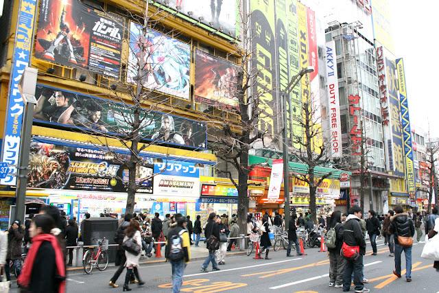 El distrito electrónico de Akihabara en Tokio