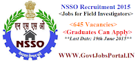 NSSO RECRUITMENT 2015