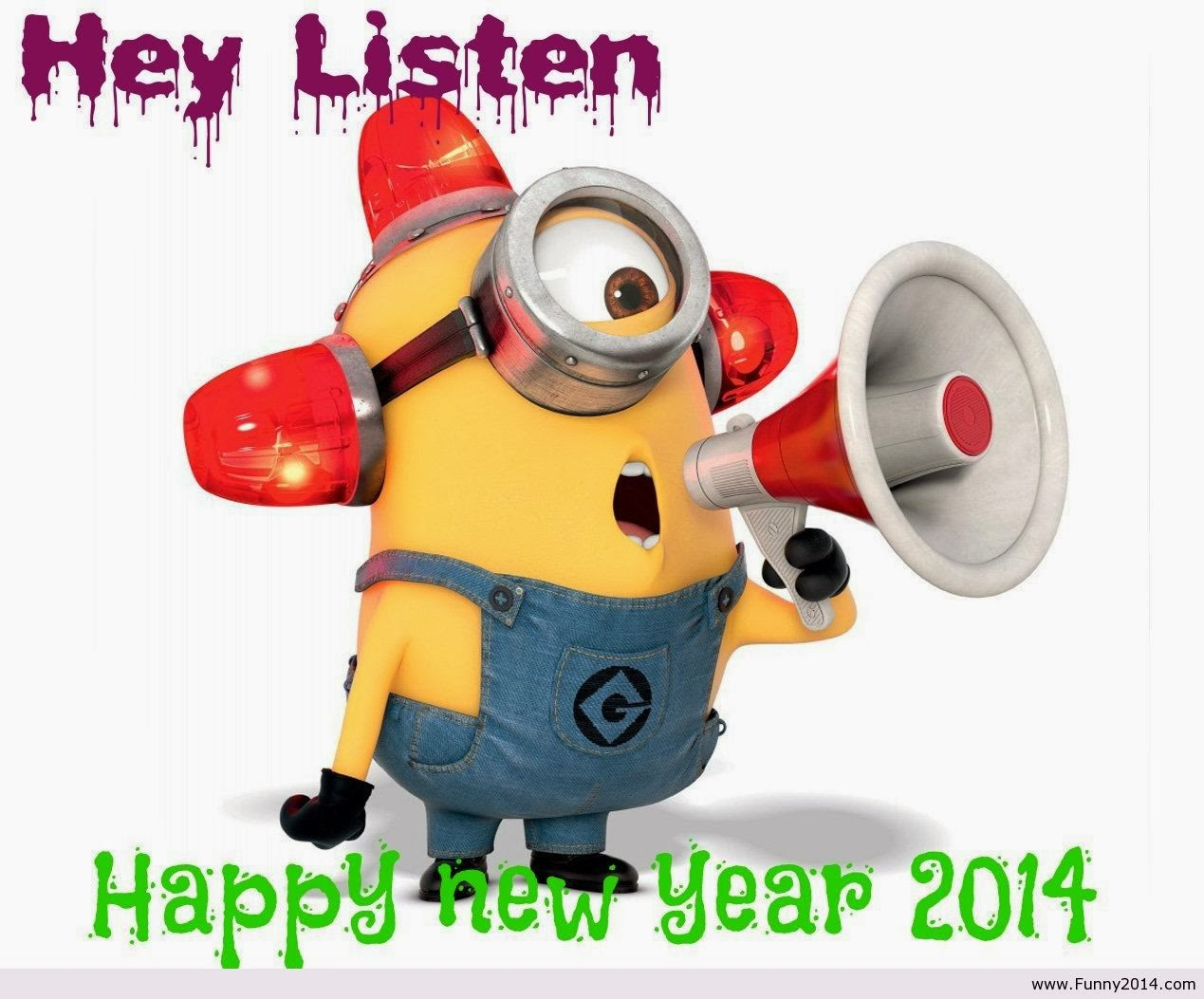 Happy birthday minions wallpaper happy new year 2014 is here
