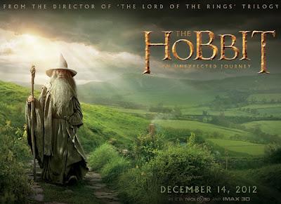 Hobbit plakat premiery filmu Gandalf Shire