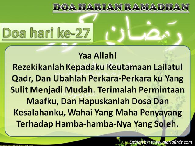 Doa Hari Ke-27
