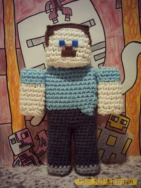 Amigurumi Free Pattern Owl : A is for Amigurumi: I am a Player...of Minecraft that is.