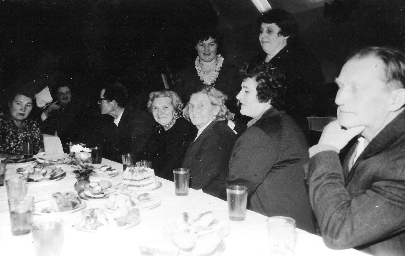 Pensionāru vakars Valles kultūras namā 1985. gadā - 2