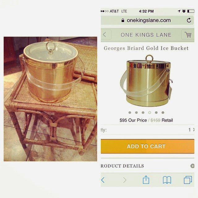 #thriftscorethursday Week 43 | Instagram user: thriftytiffanyandco shows off this Gold Ice Bucket