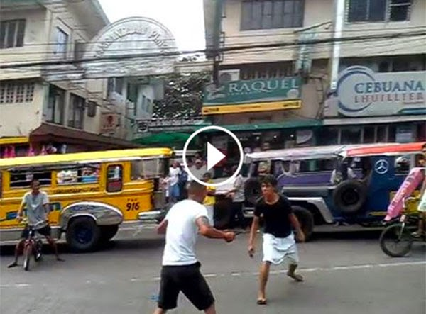 Knife Fight in Caloocan City