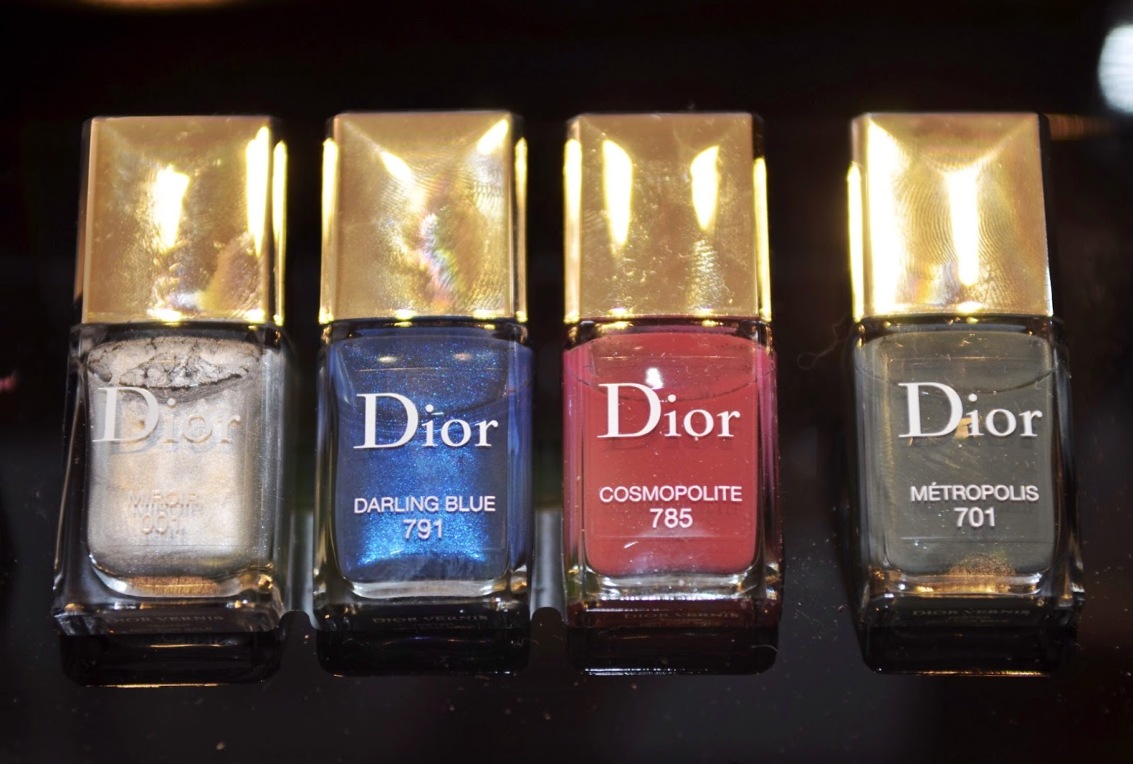 Dior Fall 2017 Nail Polish Swatches