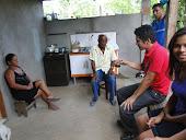 Vereador Edson do PT conversando com moradores de Stª Terezinha
