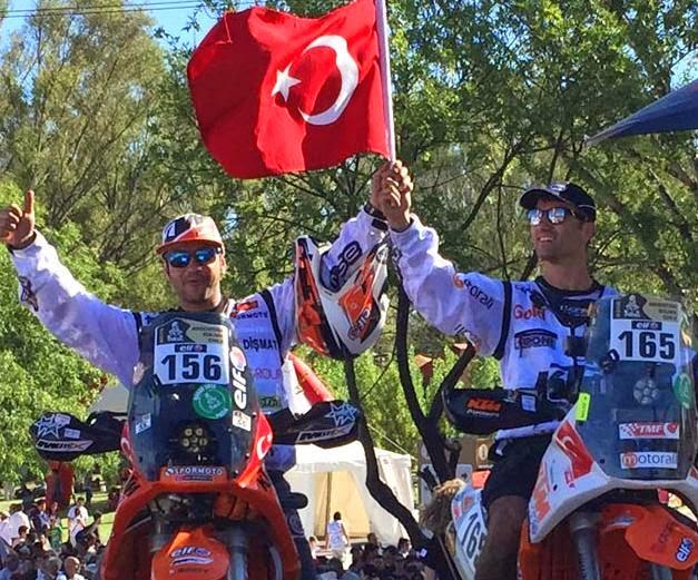 yarışçılarımız başarıyla dönüyor