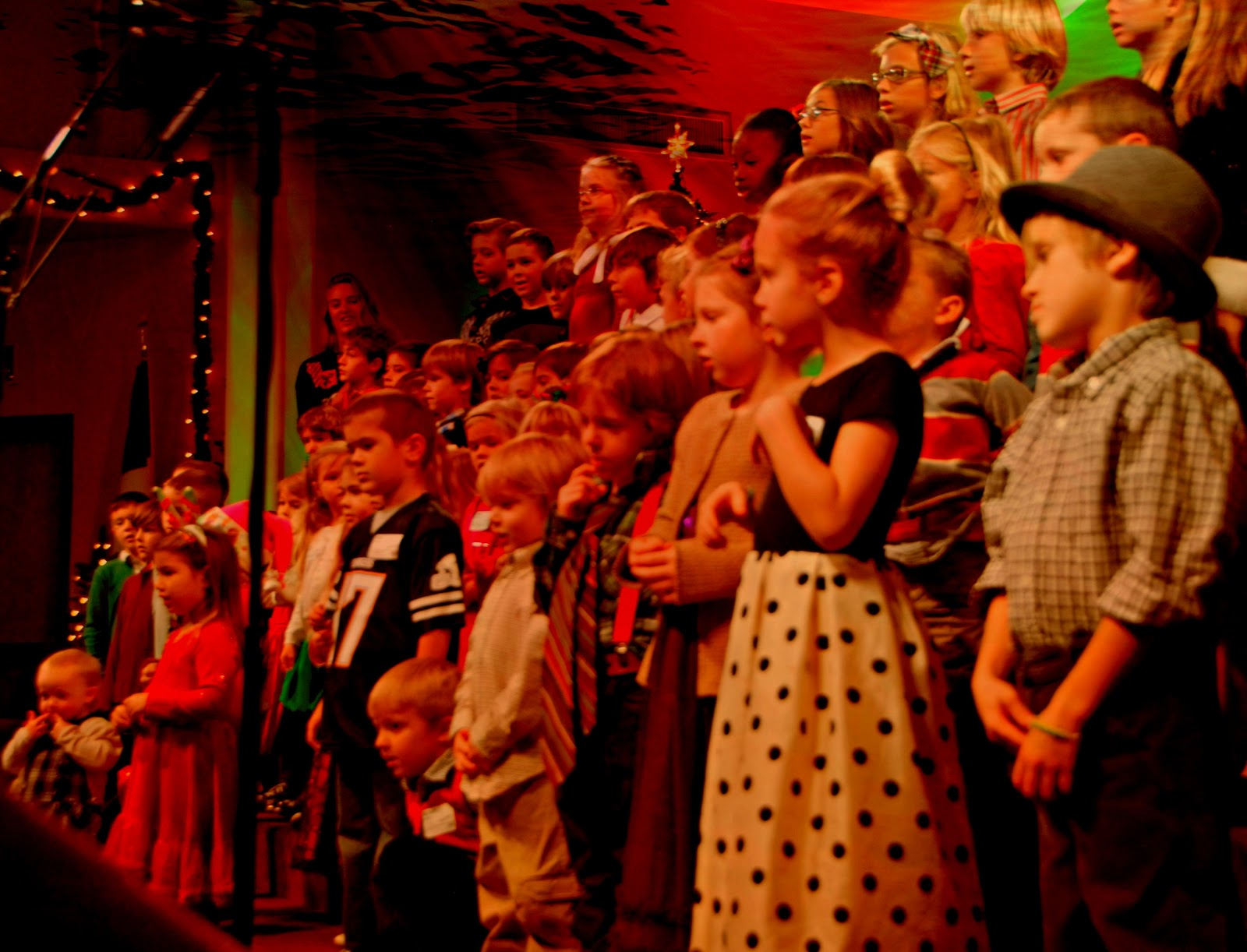 kid's choir singing in church