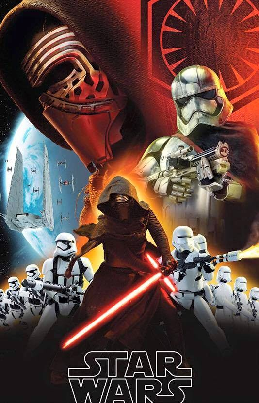 Cartel nº1 de la película Stars Wars 7 El despestar de la fuerza