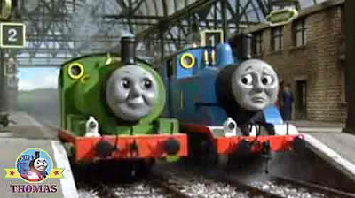 Knapford station peep peep Percy the small engine and Thomas the train and the Birthday picnic party