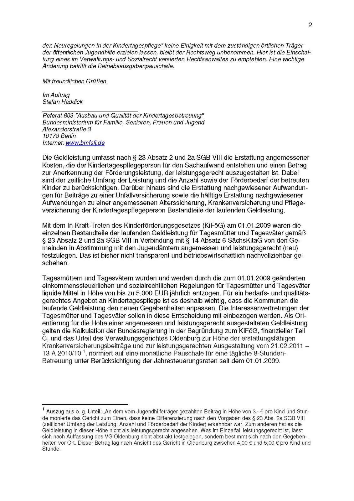 Die Interessengemeinschaft Kindertagespflege Dresden: Petition an ...