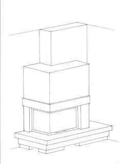 rysunek roboczy kominek