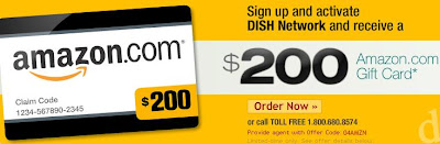 Get a $200 Amazon.com Gift Card for Signing Up With Dish Network! ~