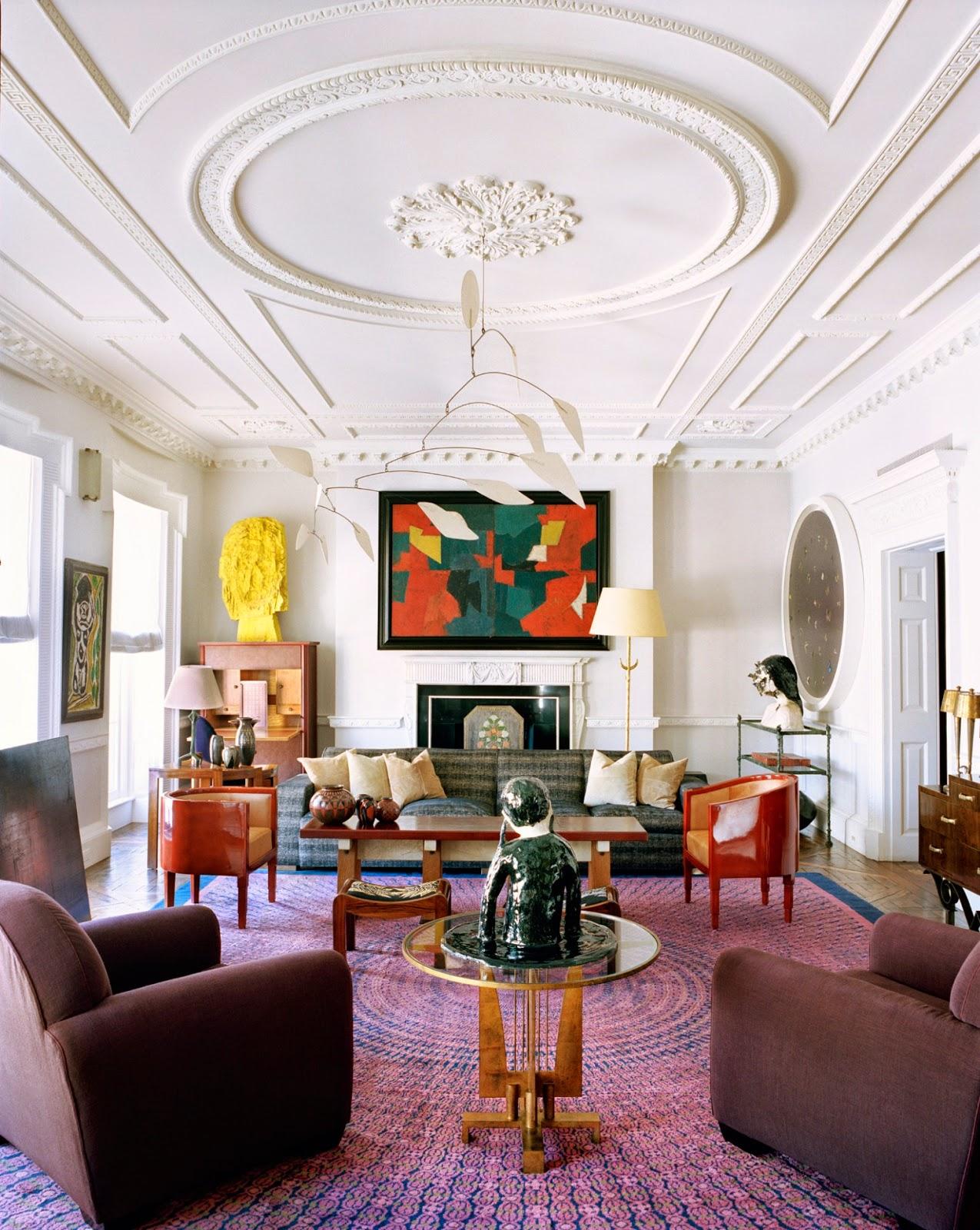 Terry de gunzburg manhattan apartment by jacques grange for Appartement parisien decoration