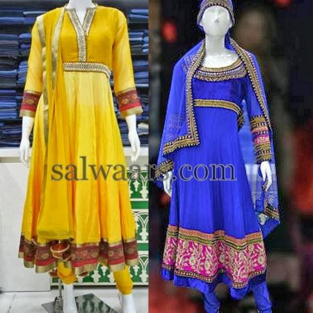 Anarkali Trendy Bright Salwars
