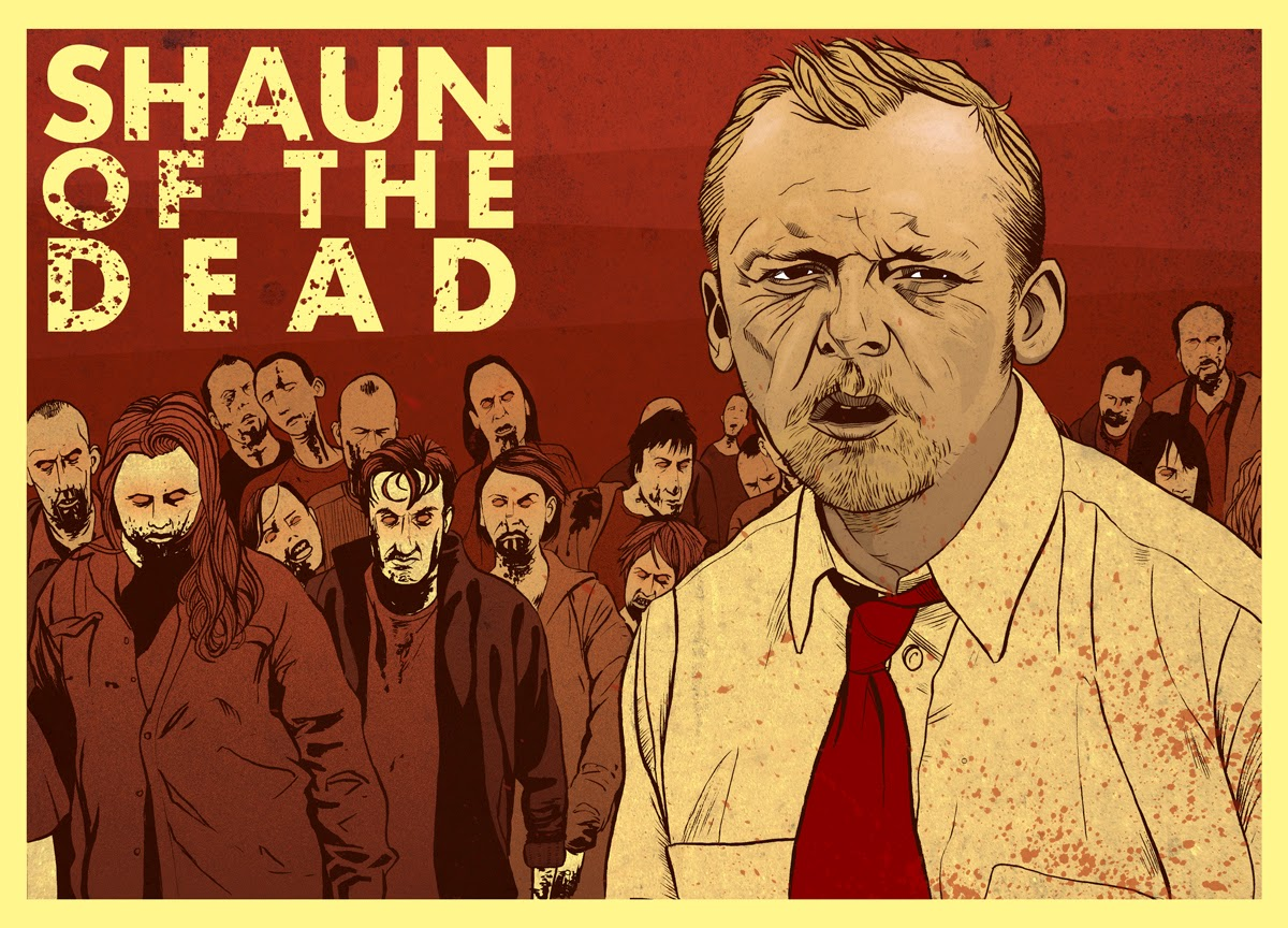 Simon Pegg Film poster - Shaun of the Dead