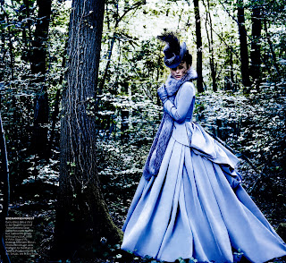 Keira Knightley in the woods