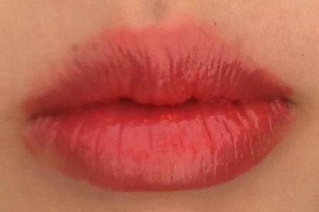 NYX Butter Gloss in Peach Cobbler Lip Swatch