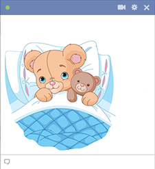 Pillow teddy bears emoticon
