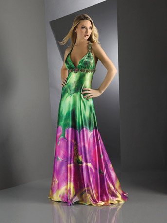 latest printed prom dresses 2012 collection ladies