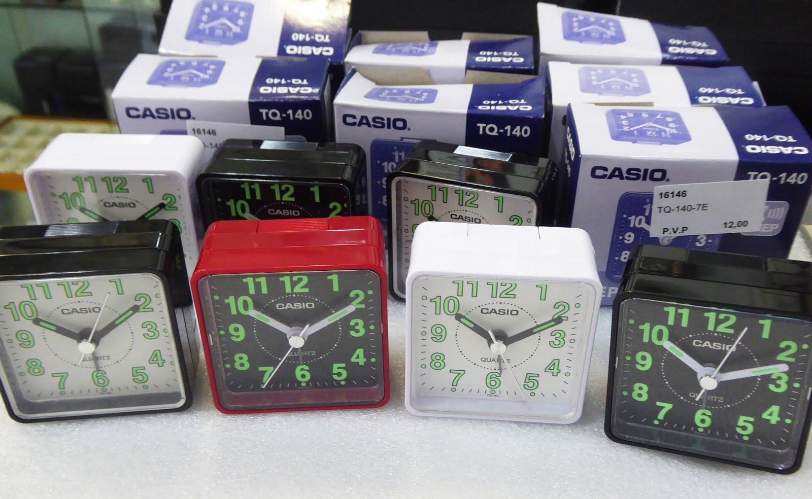 Despertadores Casio, tamaño pequeño