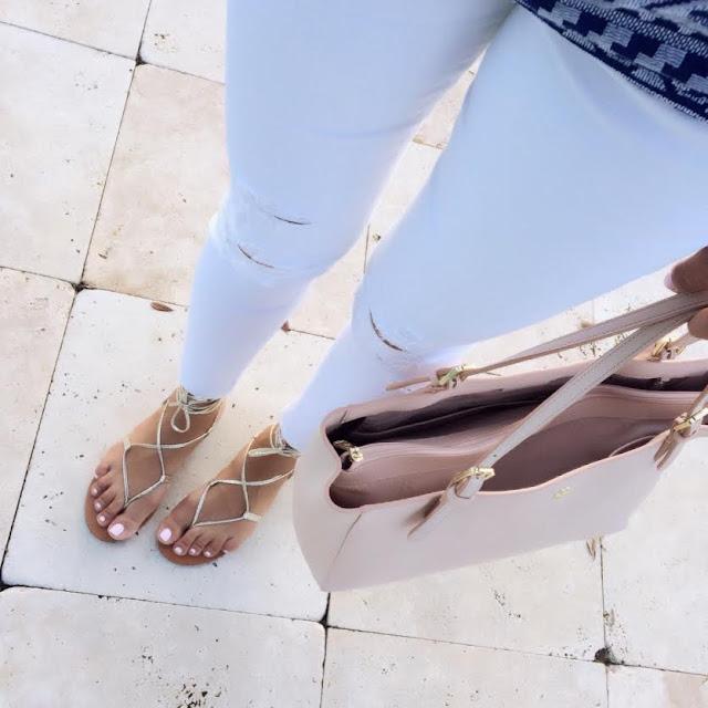J Brand distressed white denim jeans   Beautifully Seaside