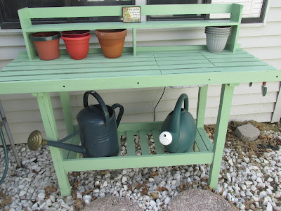 A Potting Bench Makeover
