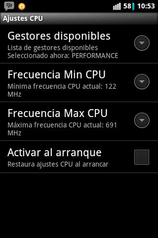 Ajustes CPU Cyanogenmod