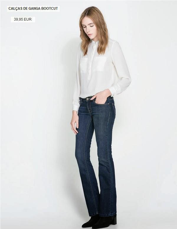 jeans a preços acessíveis da zara